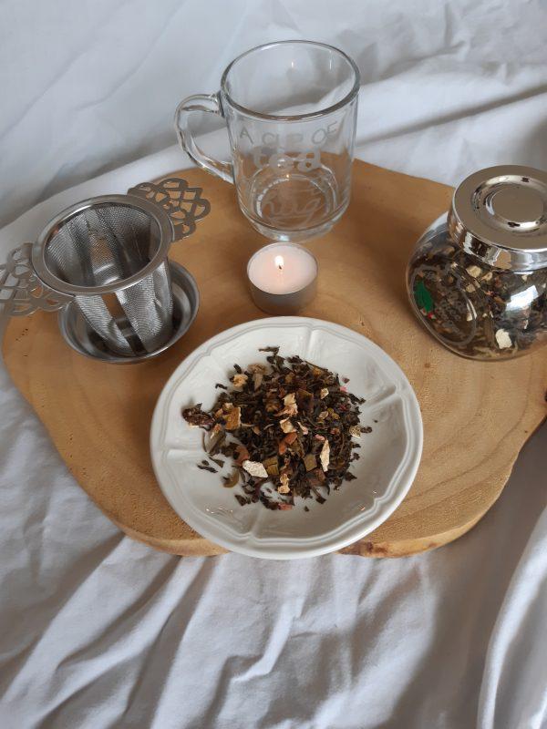 Kerstpakket 2 met glazenpotje thee van isa